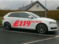 Audi A3 1.6Tdi Se, 3 Door in White, 18inch Alloys, Choice of 3