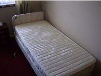 Remote control adjustable single bed