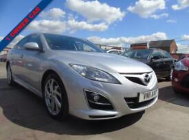 MAZDA 6 2.2 D SPORT 5d 180 BHP FULL SERVICE 1 OWNER **3 MONTHS WARRANTY INCLUDED** (silver) 2011