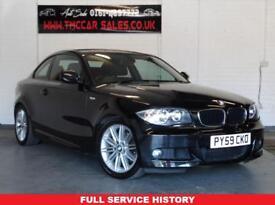 BMW 1 SERIES 2.0 120D M SPORT 2d 175 BHP £30 ROAD TAX PER YEAR (black) 2009