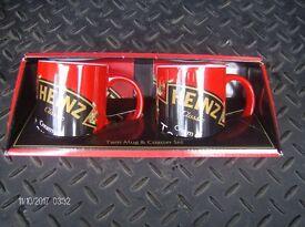 heinz soup twin mug and coaster gift set