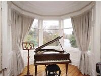 9 foot drop curtains - 4 Sets of two. 1 bay window. 3 other windows. VERY expensive. Custom made