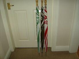 3 large umbrellas