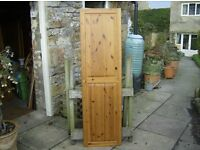 SINGLE PINE PANELLED CUPBOARD DOOR - very, very good condition