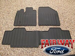 07-08-09-10-MKX-OEM-Genuine-Lincoln-Black-Rubber-All-Weather-Floor-Mat-Set-3-pc