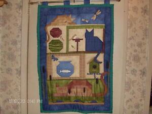 Handmade Quilted Cat Wall Hanging