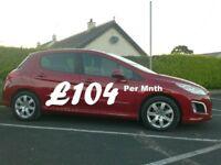 2013 Peugeot 308 1.6Hdi Active, Full History, £20 tax.