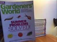 GARDENERS WORLD MAGAZINE COLLECTION - 27 issues - from June 2013 to August 2015