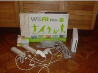 Nintendo Wii console and Wii fit Balance Board