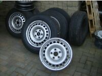 VW T4/ T5 TRANSPORTER TYRES AND RIMS