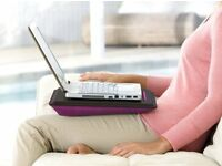 "BELKIN PORTABLE LAPTOP DESK/TRAY For Notebooks & Laptops upto 18.4"". Black/Pink"