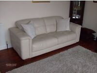 Lounge Sofa Suite Collection - Cream Leather - ex Gillies of Broughty Ferry - SOLD