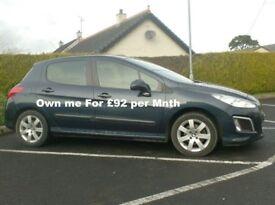 2012 Peugeot 308 1.6Hdi, Sat Nav, Alloys, £20 to Tax..