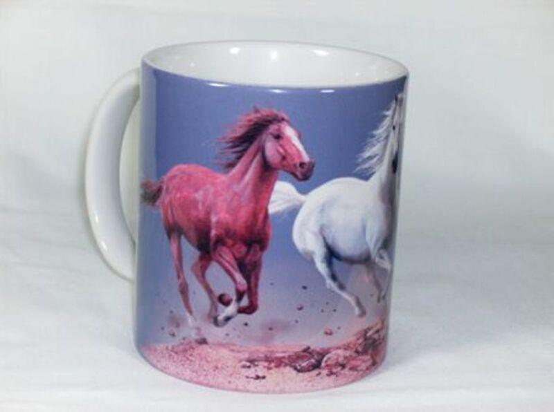 Trio of Horses 11 OZ. Ceramic Coffee Mug or Tea Cup