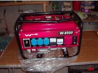 wartzburg w8500 new unused petrol generator