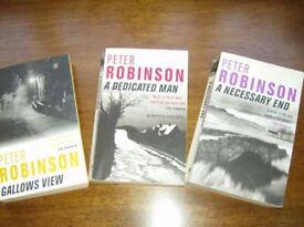 Peter Robinson Inspector Banks Series Consecutive titles 1 - 3