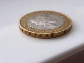 Rare £2 coin 1807.