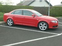 2006 Audi A4 S line 140bhp 6 Speed, Bright Red.