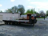 5TH WHEEL FLAT BED TRAILOR