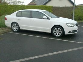 2014 Skoda Superb 1.6Tdi Cr, New model, £30 to tax, full History in White