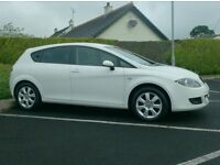 2008 Seat Leon 1.9Tdi, In White, with Sat Nav..