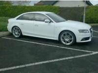 2010 Audi A4 S line Special Edition, In White, black Leather/Suede Interior