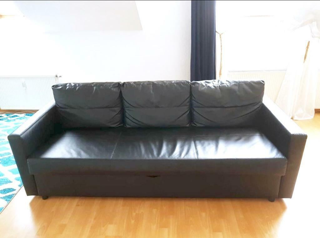 Terrific Sofa Bed Ikea Frihiten Black Leather Col Good Condi Comfy 3 4 Seater Corner Sofa Bed Style In Kings Cross London Gumtree Onthecornerstone Fun Painted Chair Ideas Images Onthecornerstoneorg