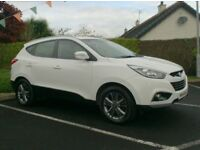 2014 Hyundai iX35 1.7CRDi, In white, Half Heated Leather.