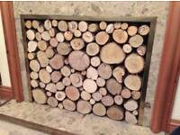 Decorative Round Hardwood Mix Logs20cm *Fireplace Decoration*