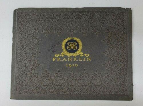1910 Franklin Sales Catalog - original string bound