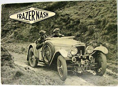FRAZER NASH Range Original Cars Sales Brochure circa 1935