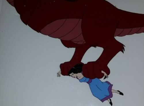 RARE Lord Maliss Dragon + Snow White Happily Ever After Animation Cel + Drawing