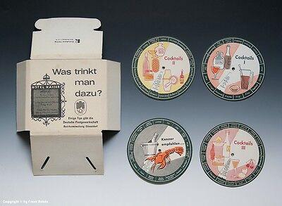 Kleine Drehdisplays - Was trinkt man dazu -  wohl um 1960