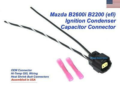 Mazda B2600i Ignition Igniter Coil CONDENSER CAPACITOR Connector Repair Pigtail