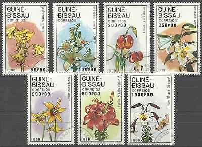 Timbres Flore Guinée Bissau 500/6 o lot 6559
