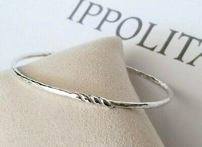 IPPOLITA - Wavy Sterling Silver Twist Bangle Bracelet - Mint Condition!