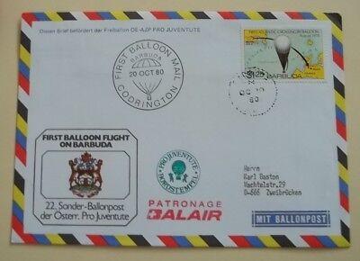 Barbuda  1. Ballönflug auf Barbuda