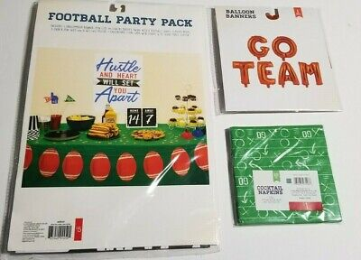 Football Party Pack Banner, Photo Props,Poster, Score Board, Ballons & Napkins  - Football Photo Props