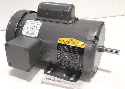 New Baldor L3409-50 Ac Electric Motor .5hp 12hp 220v 110v 1425rpm 48 Frame