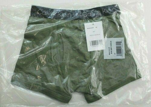 Calvin Klein Boys Boxer Brief 4T Green Cotton Stretch Classic Fit Logo Waist New