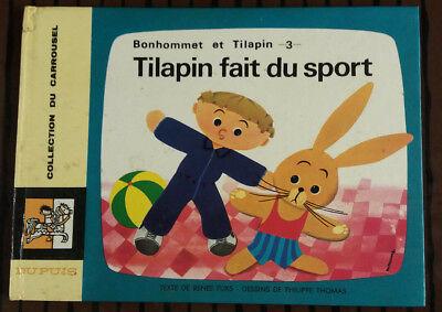 Bonhommet et Tilapin 3 reed Tilapin fait du sport Collection Carrousel N°24