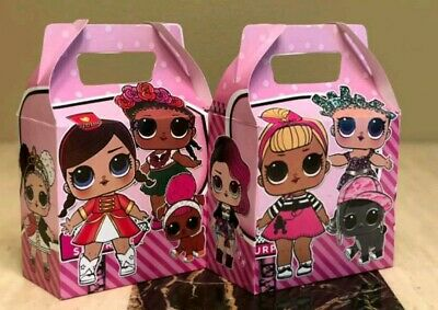 10  LOL Dolls Party Favors Treat Boxes Loot Goody Candy Bags Party Supplies - Goodie Boxes
