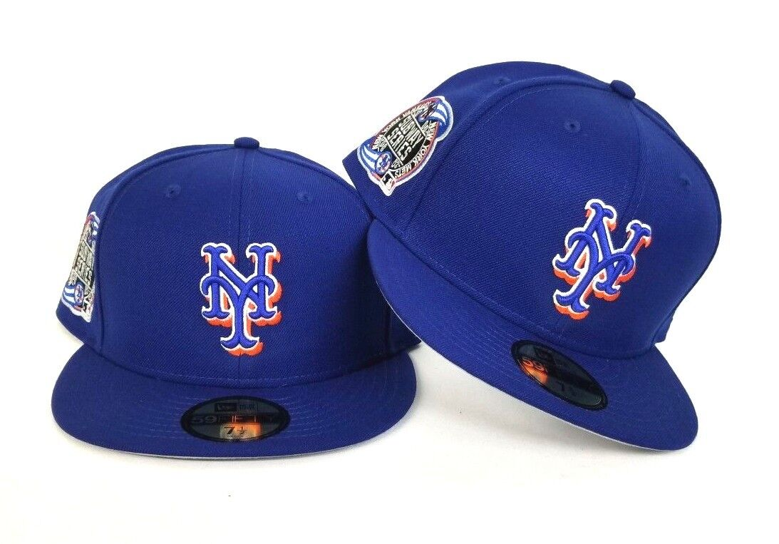 New Era New York Mets Fitted Hat BLACK SUBWAY World Series Patch 2000