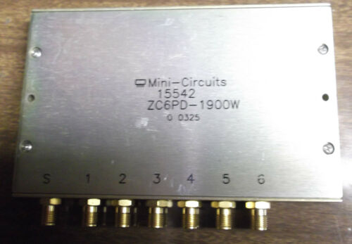 Mini Circuits ZC6PD-1900W Power Splitter / Combiner 6-Way 2.0 GHz RF SMA