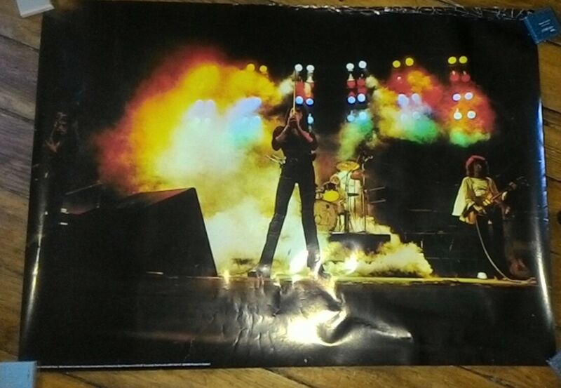 Queen Rare Poster On Stage 1975 Freddie Mercury