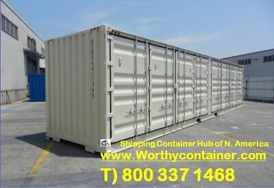 Open Side Os - 40 Hc New One Trip Shipping Container In Charleston Sc