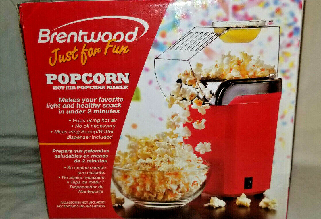 Brentwood PC-486R Popcorn Maker, 5-Inch x 7.5-Inch x 10.5-In