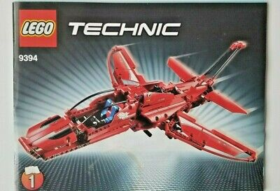 LEGO 9394 TECHNIC Red Jet Plane 2 INSTRUCTION MANUALS, includes decals