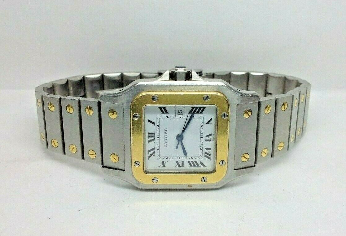 Cartier Santos Galbee 18k/SS Automatic Watch Ref#W20099C4  **NO RESERVE**