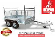 8x5 TANDEM TRAILER GALVANISED WITH LADDER RACKS 600MM Cage New T Ringwood Maroondah Area Preview